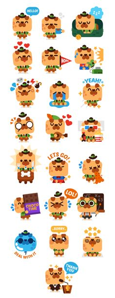 Messenger app sticker pack - Horace the dog on Behance