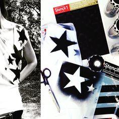 DIY Custom Tshirts: Stencil1 x Plutonium™ Paint ---> #PlutoniumPaint #SprayPaint #MadeInTheUSA #DIY #Crafts #Fashion