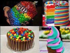 Tortas de colores