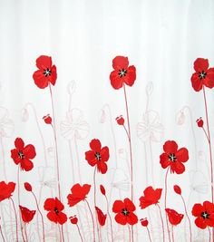 Poppy Shower Curtain Fabric 200cm Is This The I Want
