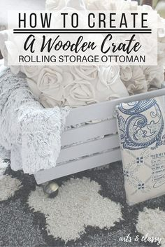 How to create a wooden crate rolling storage ottoman #PowerofYourStyle @blackanddecker #ad