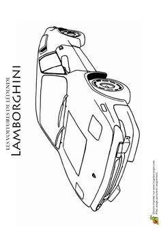 1000 images about coloriages de voitures on pinterest - Lamborghini a colorier ...