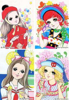 Cute and Pop! 60's Girls Comics by Eico Hanamura | PingMag : Art, Design, Life – from Japan  *1960年代、花村えい子 イラスト