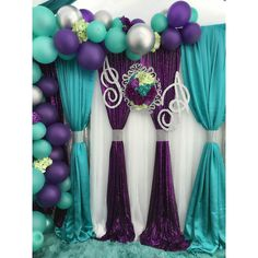 Purple and Silver Wedding Decoration . 30 Lovely Purple and Silver Wedding Decoration . Purple Turquoise Silver Green ❣️ Diamant Du Parris Inc Purple Wedding Decorations, Peacock Wedding, Wedding Colors, Silver Decorations, Lila Party, Party Kulissen, Party Ideas, Turquoise Party, Turquoise And Purple