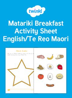 A useful worksheets / worksheet for introducing food items in Maori. Choose your Matariki breakfast items and paste them on your plate. Preschool Arts And Crafts, Maori Art, Breakfast Items, Activity Sheets, Early Childhood Education, Food Items, Worksheets, How To Find Out, Student