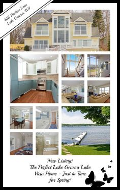 Indulge in incredible views of Lake Geneva, from the Riviera all the way to the Narrows. So many beautiful features; this lake view Lake Geneva home is not to be missed. Click the image to view the complete listing. The Melges Team; Your Lake Geneva Experts 262-745-3738 http://michalenemelges.com/listings/the-picture-perfect-lake-house-just-in-time-for-spring/