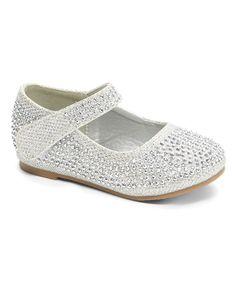 Xeyes Silver Rhinestone Crib Shoe- Zulily