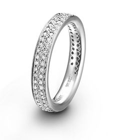 Womens Wedding Band...but in rose gold, and his in black with rose gold lines