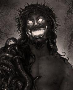 Antichrist – hot On creepy , humor , memes , scary , scary Arte Horror, Horror Art, Dibujos Dark, Art Zine, Creepy Movies, Dark Evil, Satanic Art, Evil Art, Demon Art