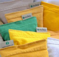 Eco friendly dryer sheets made out of old tshirts and organic lavender.
