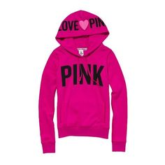 Victoria'S Secret Signature Pullover Hoodie ($45) ❤ liked on Polyvore