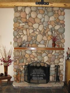 Looking for tile ideas to go with my River Rock Fireplace