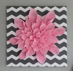 all things DIY: Chevron Flower Canvas Art - but with a yellow flower. perf for my bedroom!