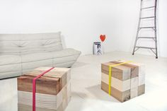 Supergrau // Klozze // wooden blocks that you can interchange and create desk