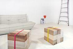 Supergrau // Klozze // wooden blocks that you can interchange and create desk