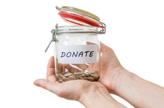 Donating to charity is a great way to lower your tax bill while making charitable contributions to a cause you believe in. Consumer Finance, Charitable Contributions, Make A Difference, Managing Your Money, Donate To Charity, Mason Jars, Canning, Mugs, Gift