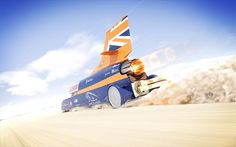 An artist's rendering of the Bloodhound SSC at speed. If all goes as planned, the Bloodhound SSC, driven by RAF fighter pilot Andy Green, will smash the existin Fighter Pilot, Fighter Jets, Car Breaks, Rocket Power, Cars Land, Jet Engine, Bloodhound, Power Cars, Car Wallpapers