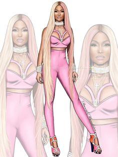Nicki Minaj  #digitaldrawing by @David Mandeiro Illustrations #digitalart #NickiMinaj #Wacom #digitalpainting #fashion #VMAs2017