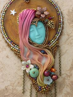 This beautiful Necklace designed by Heidi Kummli and Sherry Serafini is full of fun.The necklace is a sample left over from the Colorado Bead