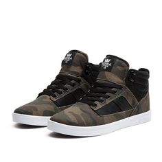 SUPRA BANDIT Shoe | CAMO - WHITE | Official SUPRA Footwear Site