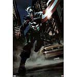 Captain America Comic Art Print Poster