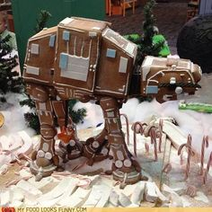 Gingerbread AT-AT - I, of course, did NOT get the reference.  Corey, of course, did.