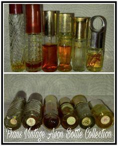 Vintage Avon Bottles Topaze, Bird of Paradise, Tempo, Glass Bottle Decanters
