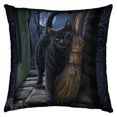 A Brush With Magick Cushion By Lisa Parker