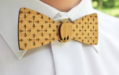 Wooden Laser Cut Bow Tie  Handsome Custom by AFlutteredCollection, $20.00