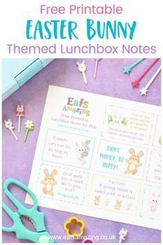 Easter Bunny Themed FREE Printable Lunchbox Notes for Kids Lunchbox Notes For Kids, Lunch Box Notes, Rabbit Jokes, Bunny Rabbit, Wacky Holidays, Holidays With Kids, Easter Crafts, Easter Food, Easter Activities For Kids