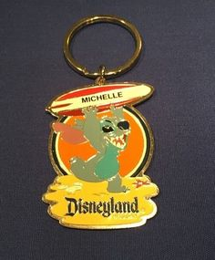 MICHELLE Walt Disney's Disneyland Resort Stitch Keychain Key Ring Souvenir  | eBay