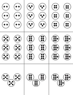 Here's a set of cards that use subitizing elements and the concept of equal groups to practice basic multiplication facts.