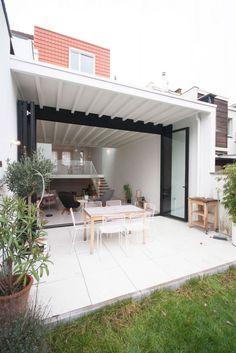 Victor | KOMAAN!architecten voor no-nonsense verzinsels en allerhande projecten. Home Design Plans, Home Studio, Habitats, Extensions, Pergola, Outdoor Structures, House Design, Windows, Doors