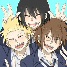 Awww, this is so sweet. Yoshitake, Tadakuni and Hidenori <3 ~Daily Lives of Highschool Boys