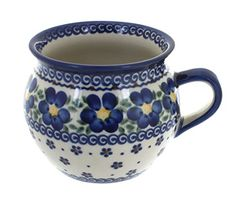 Polish Pottery Spring Blossom Bubble Mug *** Check out this great product.