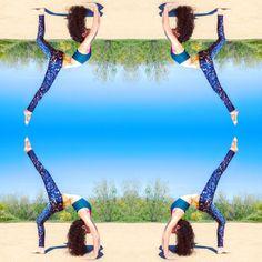 Galaxy Champagne Yoga Leggings Women's Fashion by DifferentCity