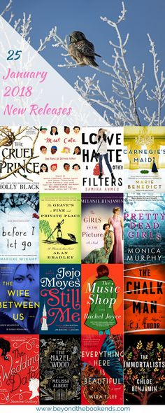 Upcoming new release adult fiction for January 2018. Looking for your next great new read? Chloe Benjamin, jojo Moyes, Holly Black, Marie Benedict