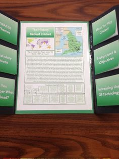 AP World History trifold project - manila folder holds timelines, pictures, vocab, and other info. Genius.