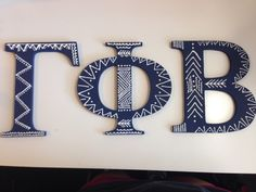 gamma phi beta wooden letters