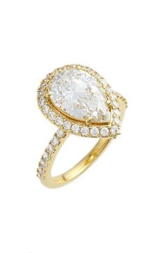 Nadri Pear Cut Cubic Zirconia Ring available at #Nordstrom
