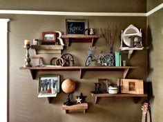 Rustic Reclaimed Wood Shelf by ThreeArrowDesign on Etsy, $15.00