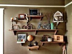 Rustic Reclaimed Wood Shelf by ThreeArrowDesign on Etsy, $15.00