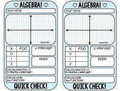 FREE warm-up template for ALGEBRA 1 graphing linear equations. Algebra Activities, Maths Algebra, Math Resources, Math Games, Math Multiplication, Calculus, School Resources, Math Teacher, Math Classroom