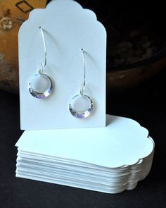 Earring Card Jewelry Display Tags