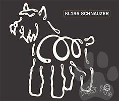 K Lines Schnauzer Window Tattoo Decal http://doggystylegifts.com/products/k-lines-schnauzer-window-tattoo-decal
