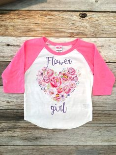 #ad.  Flower girl raglan tshirt, Flower Girl glitter shirt, Wedding shirt, bridal party baseball tee, flow