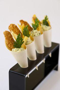 Fish & Chip canapes - modern British food