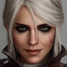 Face texture inspiration Take closer look at the scar and lips. The Witcher Ciri, Witcher 3 Art, The Witcher Wild Hunt, The Witcher Game, Witcher Wallpaper, Yennefer Of Vengerberg, Video Games Girls, Throne Of Glass, Video Game Art
