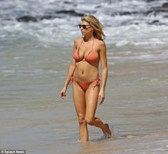 Holiday in Hawaii: Charlotte McKinney showcased her killer curves while enjoying the sun and sea in Hawaii on Monday