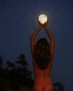 I can hold the moon in my hands, it's just a matter of how...